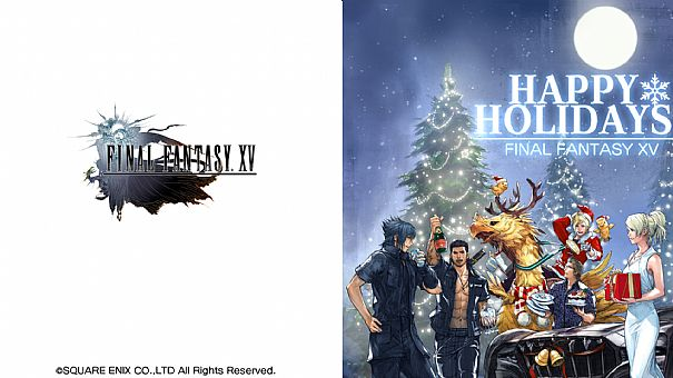 Final Fantasy Christmas.Square Publishes Its Christmas Wallpaper Final Fantasy Xv