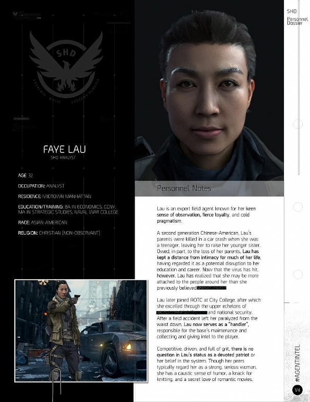 The Division: new details on the protagonists
