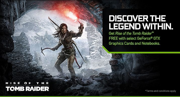 Rise of the Tomb Raider for free by buying a GeForce graphics card