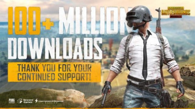 PUBG on dizzying mobile: over 100 million donwload