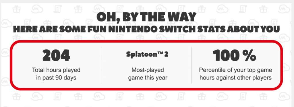 Nintendo is sending you statistics about your sessions with Switch