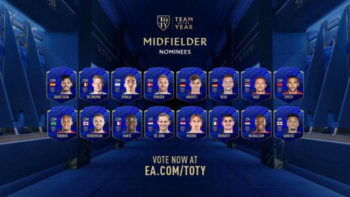 FIFA 20 opens voting for the Team of the Year