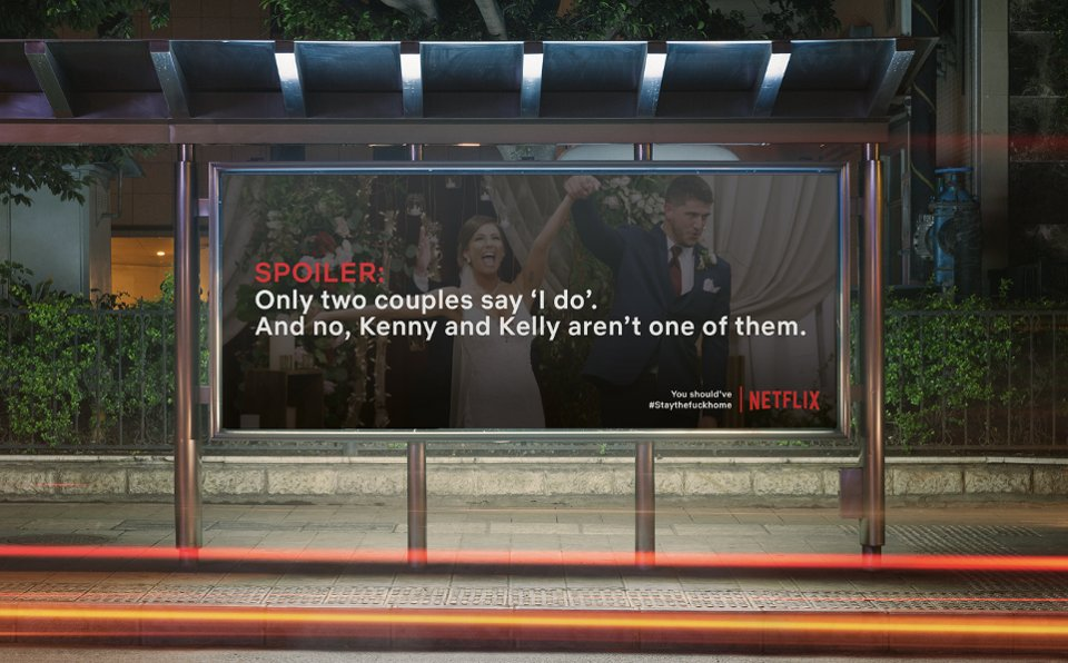 Netflix, street posters with spoilers to enforce quarantine