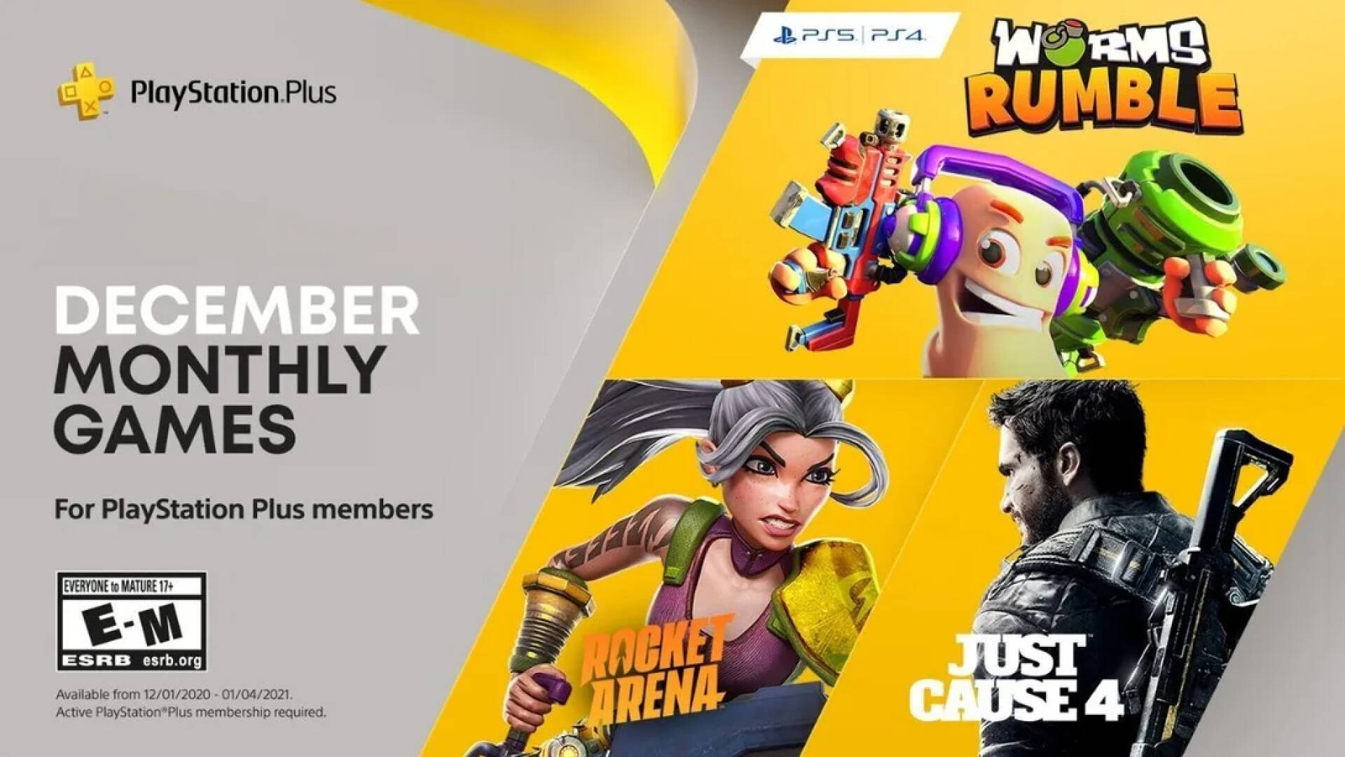 PlayStation Plus, December free games announced