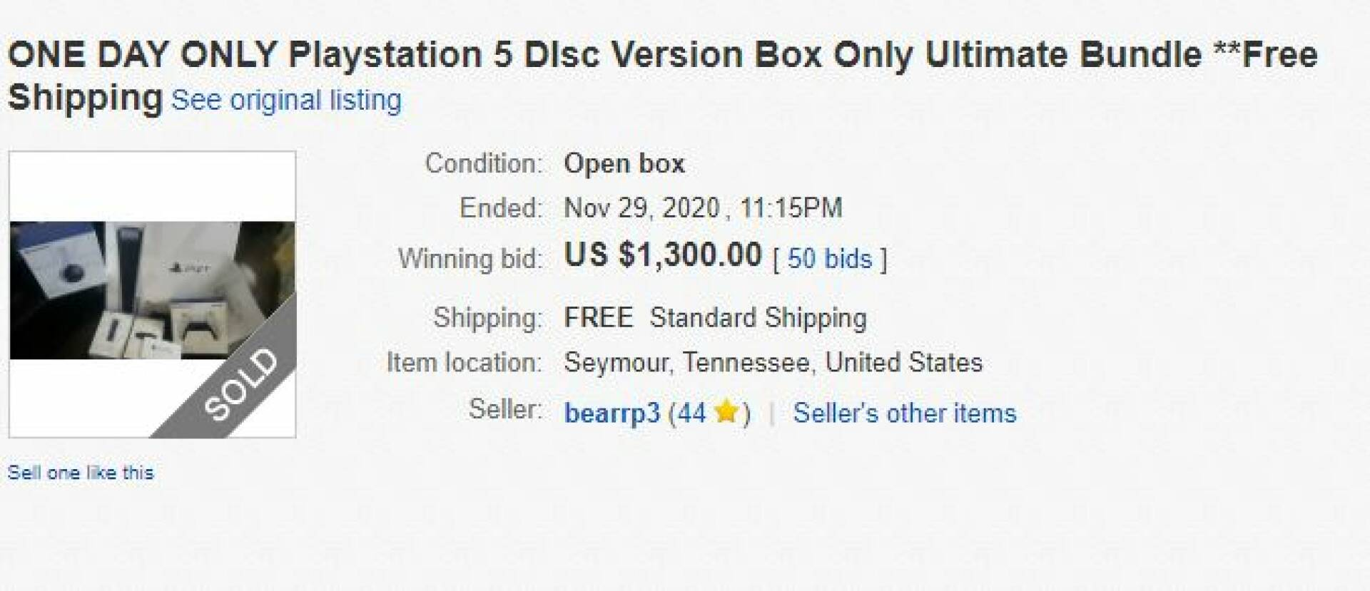 On eBay, someone is buying empty PS5 boxes for over $ 1,000