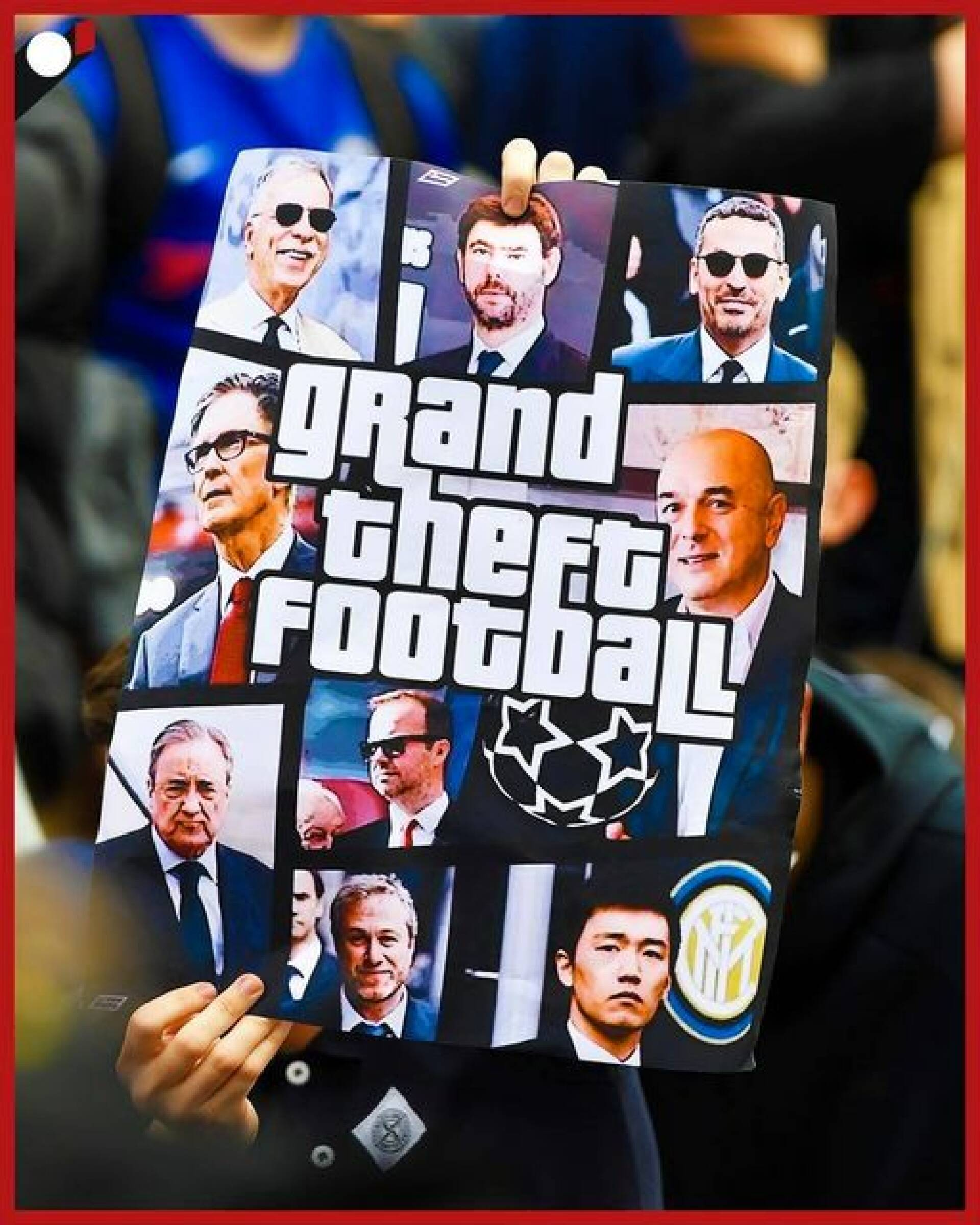 Chelsea fans protest Super League (using GTA)